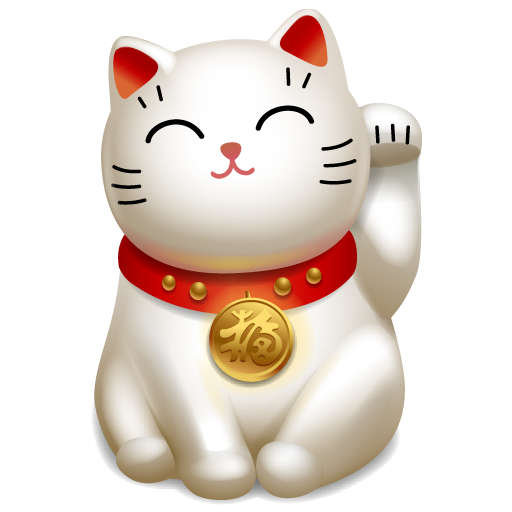 Maneki Neko welcome image (by IcoJoy)