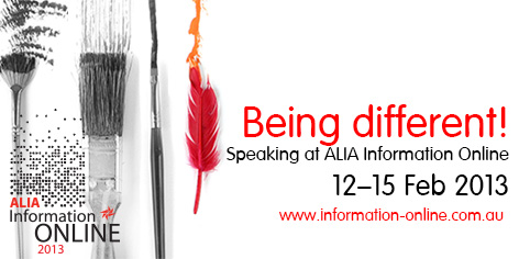 Speaking at ALIA Info Online 2013