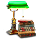 Lamp with books image